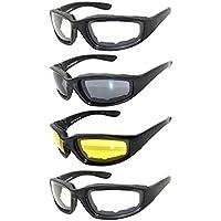 Ensemble de 4 paires de lunettes moussées moulées en mousse Lentille jaune ou claire fumée