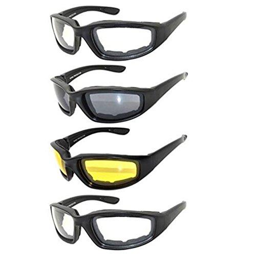 Sonnenbrillen Motorradbrille , 4 Stücke Allwetter Schutz Motorrad Fahrerschutzbrille für Outdoor-Aktivität Sport