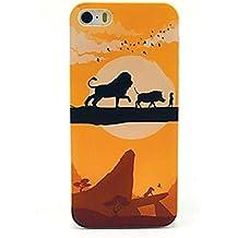 NightKid León rey, puesta de sol y paisajes de noche funda (iPhone 6S Plus iPhone 6S iPhone 6 Plus iPhone 6 iPhone 5C iPhone 5/5S iPhone 4/4S )(iPhone 6S/4.7,Naranja)