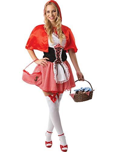 Sexy Damen Märchen Rotkäppchen Fasching Karneval Verkleidung Kostüm -