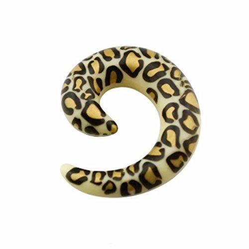 eeddoo Acryl - Expander - Schnecke - Gepard - 12 mm (Piercing Dehner Dehnstab Ohrdehner Taper für gedehnte Flesh Tunnel Ohren)