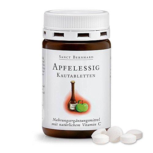 Sanct Bernhard Apfelessig-Kautabletten mit Apfelessigkonzentrat, Vitamin C 120 Tabletten
