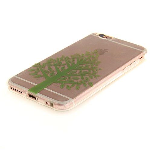 Coque iPhone 6S,Étui iPhone 6,iPhone 6S/iPhone 6 Case,ikasus® Coque iPhone 6S/iPhone 6 Silicone Étui Housse [Conception IMD et cadre en silicone TPU] Téléphone Couverture TPU Ultra Mince Premium Semi  Arbre vert