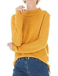 MONARI 803265 225 Damen Pullover Stehkragen Oversized-Form Baumwolle  Polyacryl 6d39f3496d