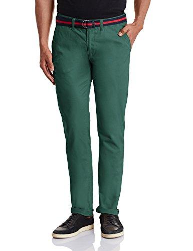 Ruggers Men's Casual Trousers (8907242937588_268435726_34W x 33L_Green)
