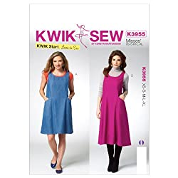 Kwik Sew Patterns K3955 Misses Jumper Sewing Template, All Sizes