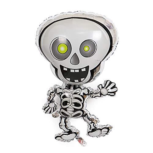 (Sunshine D Halloween Folienballon, Aufblasbare Spielzeug Scary Nette Kürbis Bat Boot Hexe Schädel Spinne Ballons für Halloween Dekorationen Indoor Party Supplies, Dance Skeleton)