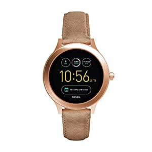 fossil damen smartwatch q venture 3 generation leder sand moderne smartwatch mit. Black Bedroom Furniture Sets. Home Design Ideas