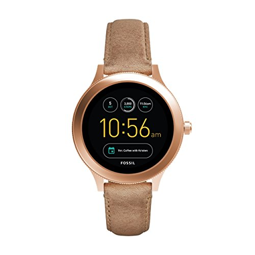 FOSSIL Gen 3 Smartwatch Q Venture Sand Leather | Women's Smartwatch with Bluetooth Technology – Activity Tracker, Smartphone Notifications