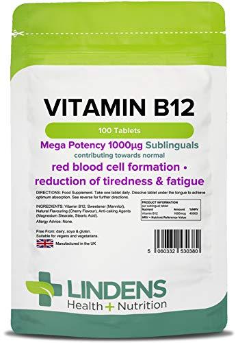 Tavolette di Vitamina B12 Sublinguali da 1000mcg