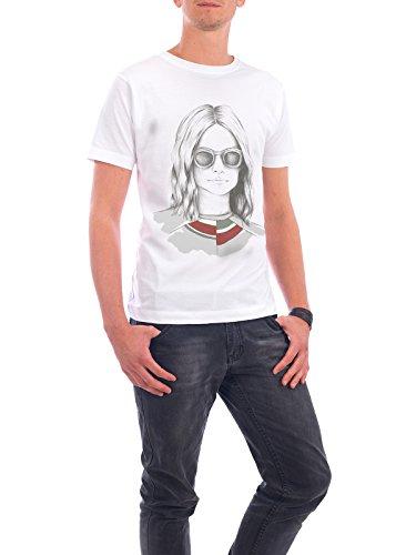 """Design T-Shirt Männer Continental Cotton """"Waldmädchen"""" - stylisches Shirt Menschen Fashion von Smuk Leve Weiß"""