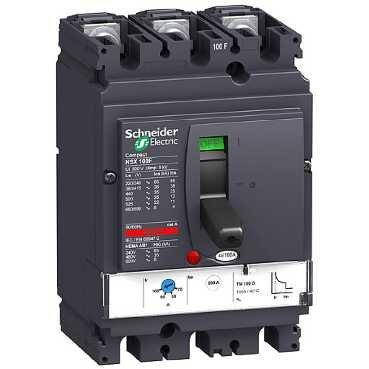 SCHNEIDER ELEC PBT - PAC 05 03 - INTERRUPTOR MAGNETOTERMICO NSX100N TM50D 3 POLOS 3R