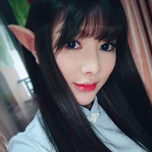 Senoow 1 Paar Halloween Elfen Elfenohren Anime Fairy Vampire Cospaly Kostüme, Beige