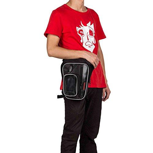 Borsa da Gamba Marsupio Sacchetto di Sport Esterno/Waist Bag per Trekking  Viaggio, Sport  Bicicletta Militare Nero Black TB003