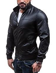 BOLF - Veste - Faux cuir - Fermeture éclair – GANEDER 8006 – Homme
