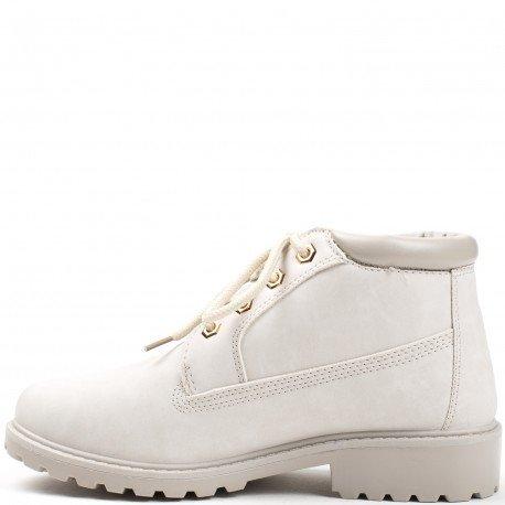 Ideal Shoes - Bottines style randonnée Milia Gris