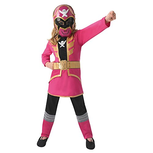 Pink Power Ranger Super Megaforce Kinder Gr. S - L Karneval Kinderkostüm Superheld Held ()