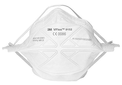 3MTM VFlexTM Respiratore monouso, FFP2, senza valvola, 9152s, Certificato EN sicurezza
