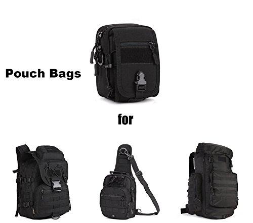 SUNVP Tactical MOLLE Handy Tasche Tasche Military Zahnrad Taille Gürtel Rucksack Schulter Messenger Satteltasche Black