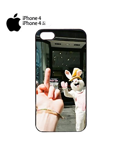 Swearing Girl to Rabbit Mascot Funny Mobile Phone Case Cover iPhone 6 Plus + White Noir