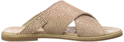 Shabbies Amsterdam Premium Italian made flat cross sandalet leather sole Pendula, Sandales femme Rose (Bianco) (Bianco)