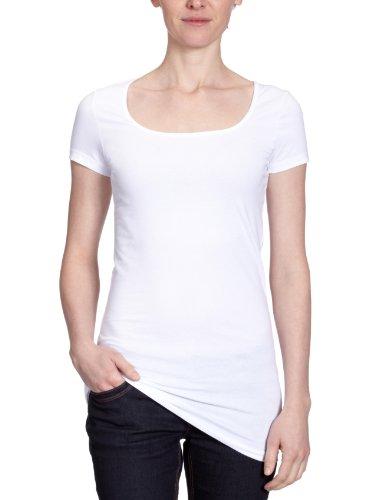 VERO MODA - Maglietta, Manica corta, Donna, Bianco (OPT.WHITE 11-0601 TCX), XL