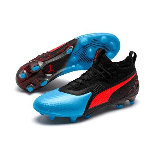 Puma One 19.1 FG/AG, Scarpe da Calcio Uomo, Blu (Bleu Azur-Red Blast Black), 43 EU
