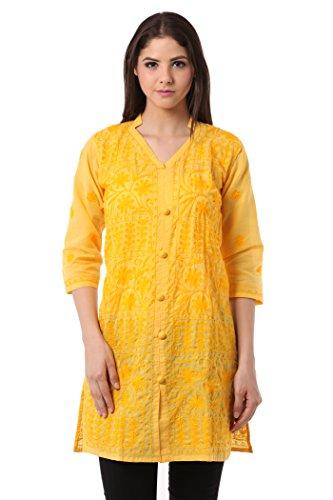 Saadgi Chikankari Kurti/Kurta for Women - Double Thread Work & Pure Cotton...