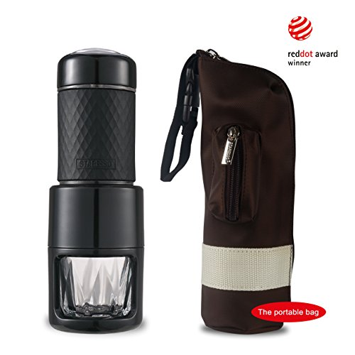 STARESSO Manuelle Kaffeemaschine Hand Espressomaschine Outdoor Cappuccino Camping Wandern Reise...
