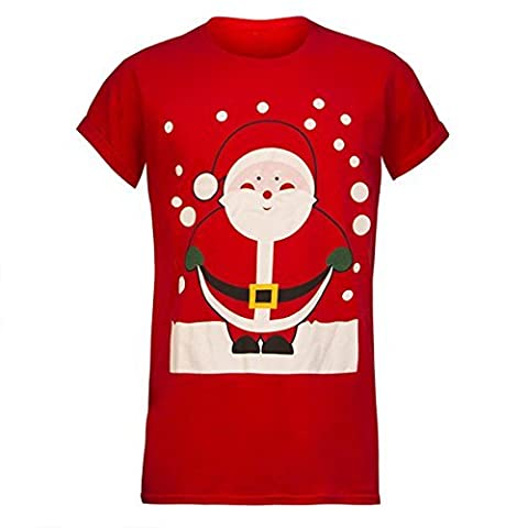 ENVY BOUTIQUE MENS XMAS T SHIRT NOVELTY CHRISTMAS WOMENS UNISEX SANTA REINDEER SNOWMAN TEE TOP [UK