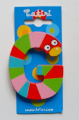 """Tatiri 72016 Holzbuchstabe""""crazy bird - G"""", 7 cm"""