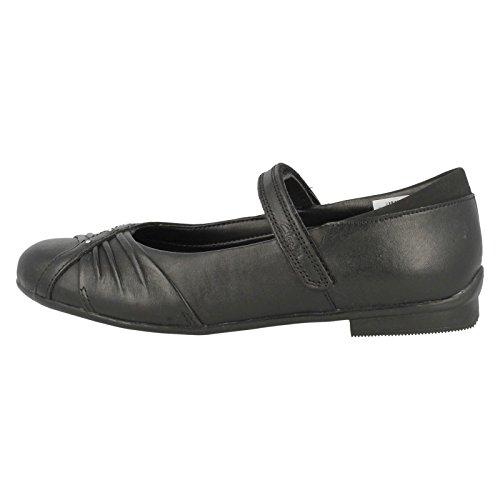 Clarks Dolly Shy Mädchen Geschlossene Ballerinas Schwarz (Black Leather)