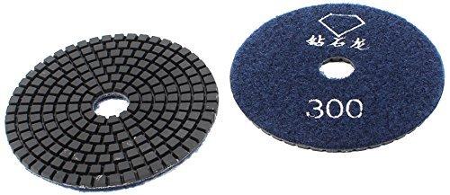 Preisvergleich Produktbild a13111800ux1414 Grit 300 Granit-Fliese Steindiamant-Polierscheibe, Dunkelblau, 2-teilig