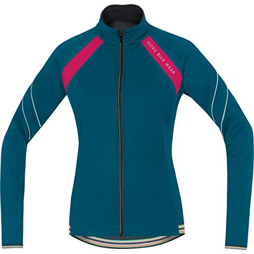 GORE BIKE WEAR Damen Warme Fleece Soft Shell Rennrad-Jacke, GORE WINDSTOPPER, POWER LADY 2.0 WS SO Jacket, Größe: 38, Petrol/Pink, JWWPOW (2.0 Lady Power Tights)