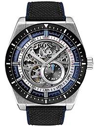 4850da3b631f Hugo Boss Watch Reloj Esqueleto para Hombre de Automático con Correa en  Cuero 1513643