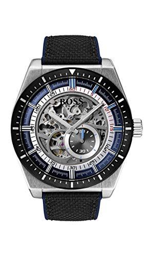 Hugo Boss Watch Hommes Squelette Automatique Montre avec Bracelet en Cuir 1513643