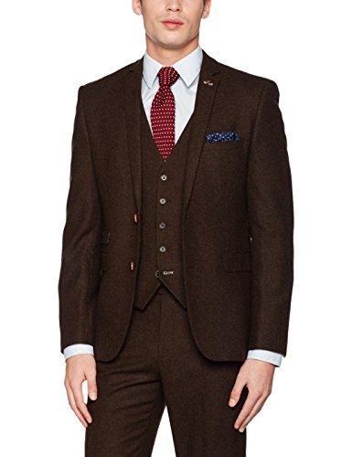 Burton Menswear London Slim Donegal, Blazer Uomo Brown