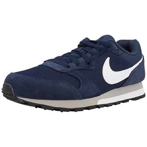 Nike - MD Runner 2 - 749794410 - Colore: Bianco-Blu marino-Grigio - Taglia: 44.0