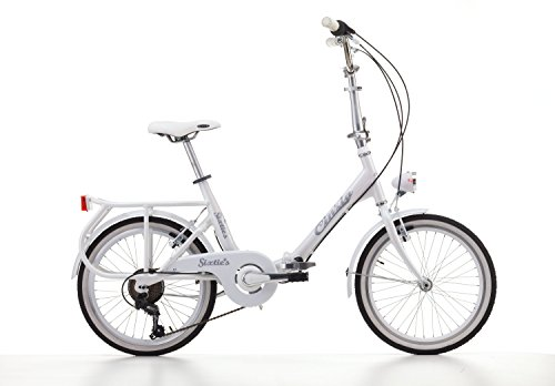 Klapprad Faltrad Aluminium Sixtie\'s 20 Zoll 6 Gang Shimano Weiß