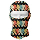Jxrodekz Bigfoot Silhouette Pop Art Sasquatch Balaclava UV Protection Windproof Ski Face Masks for Cycling Outdoor Sports Full Face Mask Breathable