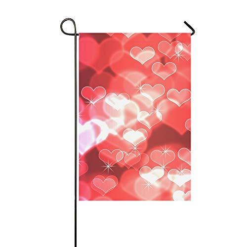 okeh Abstrakt Rot Farbverlauf Valentines Garten Flaghouse Yard Flaggarden Yard Decorationsseasonal Willkommen Outdoor Flagge 12X18 Zoll ()