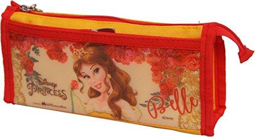 Disney & Marvel Characters Double Zip Pvc & Polyester Pencil Bag Pouch (Belle Princess)