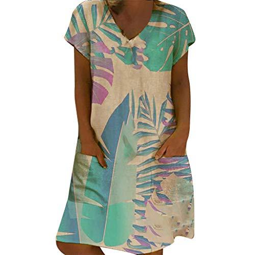 393e74b3961af Women's Vintage Cotton Boho Wave Point Printed Maxi Dresses Ladies Summer  Comfortable Sleeveless O-Neck Long Dress