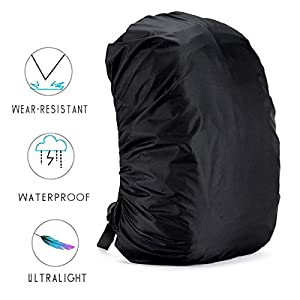Backpack Rain Cover - 5 Size Ultralight Waterproof Rucksack Bag Cove, 35L-80L Nylon Dustproof Cover for School/Travelling/Camping/Hiking/Outdoor Activities (2 Pack)