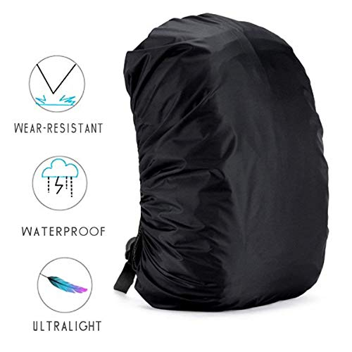 41VspebTabL. SS500  - Backpack Rain Cover - 5 Size Ultralight Waterproof Rucksack Bag Cove, 35L-80L Nylon Dustproof Cover for School/Travelling/Camping/Hiking/Outdoor Activities (2 Pack)