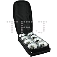 8Pcs Steel France Boules Petanque Set With Carry Bag For Adults And Children