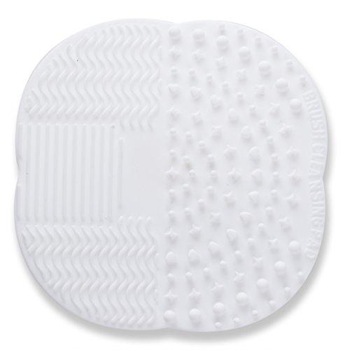 Tapis de lavage pour Cosmétique Maquillage Brosse Princeau En silicone Ventouse Portable Lavable (3pcs multicolore)