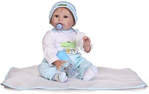 JHGFRT Rebirth Bébé Poupée Fille Bébé Jouet Accompagné par Simulation Cadeau  Créatif Bébé ... e672dd81f45