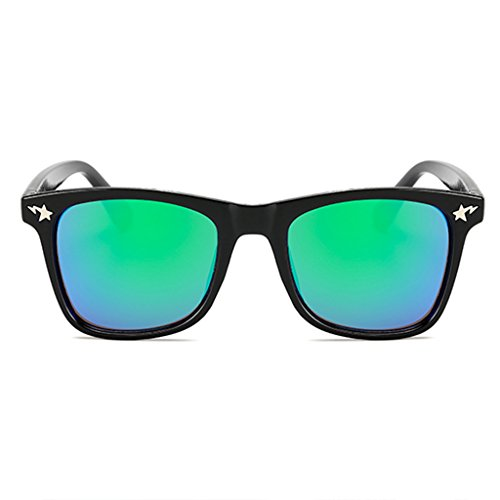 Unbekannt WLHW Kindermode Sonnenbrille Camo Rahmen HD Bunte Linsen 100% UV400 Alter 3-10 (Farbe : Green)