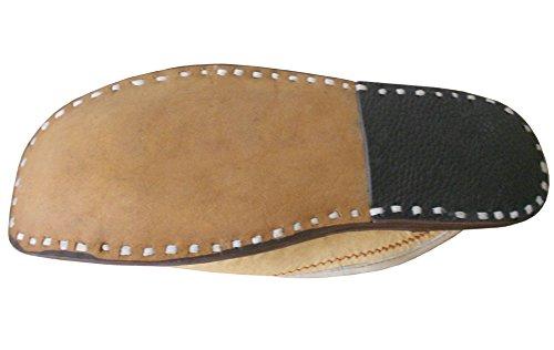 KALRA Creations Herren Traditionell indische Designer Leder Slipper Schuhe Camel